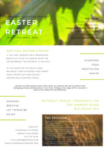 Ayurveda Retreat Flyer