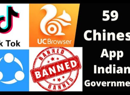 Banning of 59 Chinese App