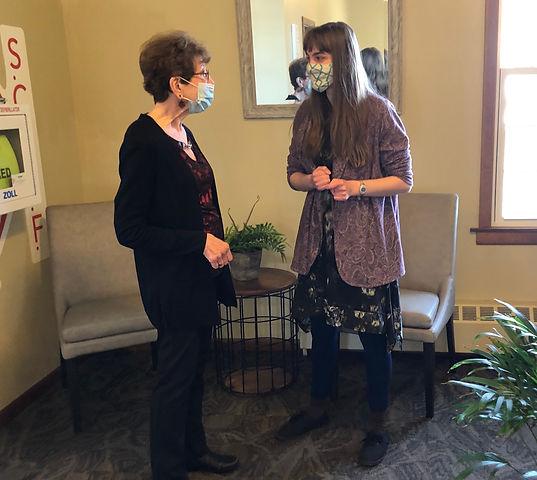 General pic Visiting Grace Haas and Nata