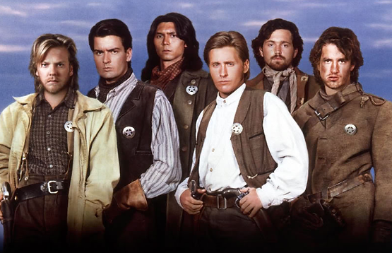 The main cast members of Young Guns