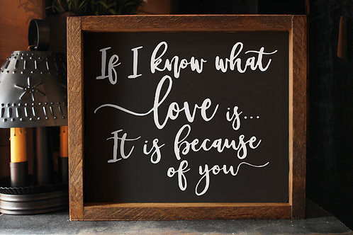 If I know what love is ...
