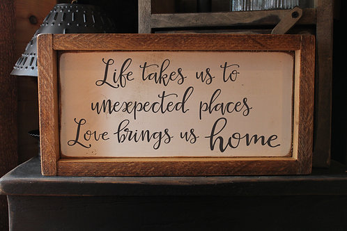 Life takes us...