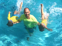 Is swimming with your dad a different story?
