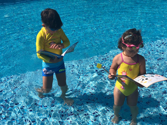 The pool and the classroom – partners in education!