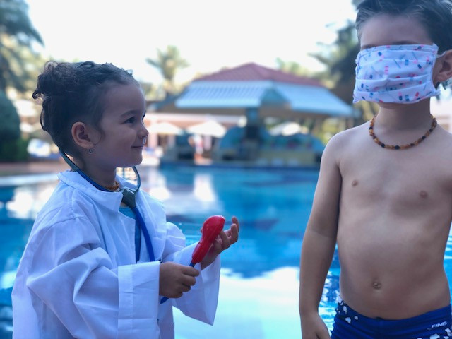 Why is it important for children to undergo a sport check-up before starting withswimming?