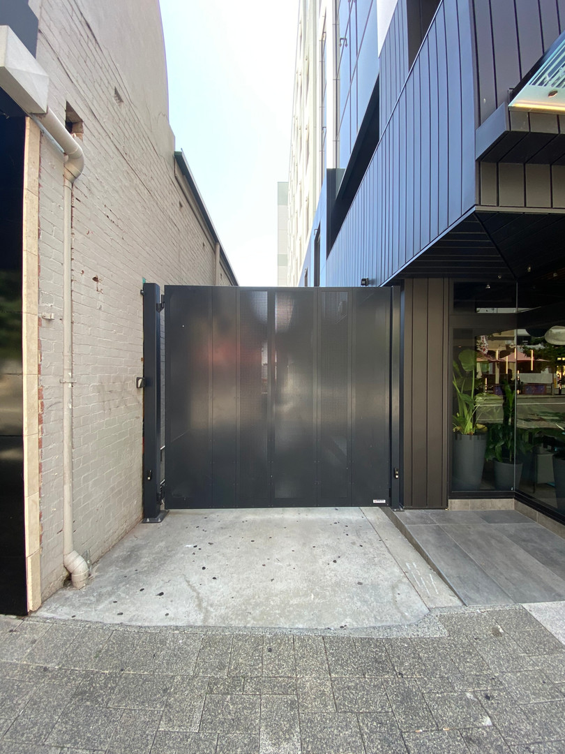 Perforated Single Swing Gate