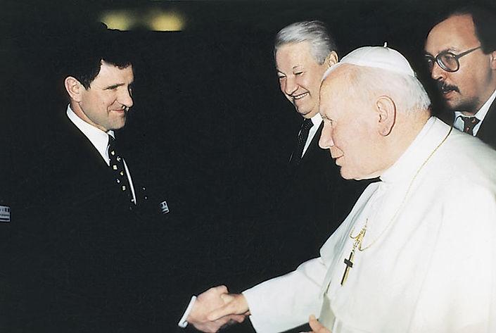 Александр Волков, Борис Ельцин, Папа Иоанн Павел II