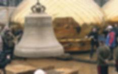 Александр Александрович Волков, Первый Президент Удмуртии на церемонии освящения главного колокола Свято-Михайловского Собора