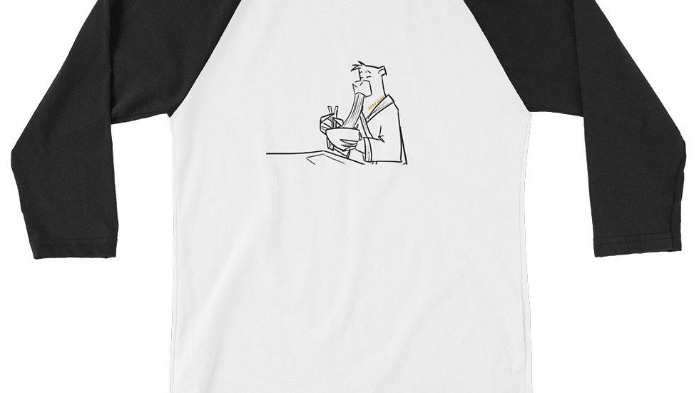 SOBA GANG BEAR 3/4 sleeve raglan shirt