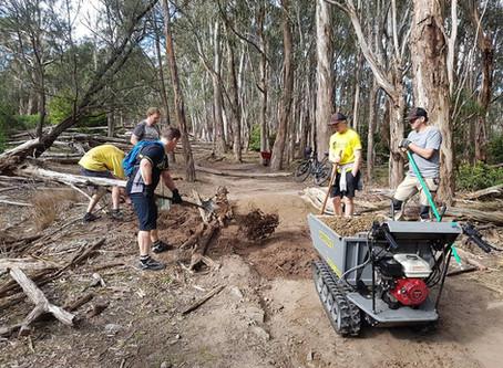 Trail Build Day 28 July - Summary