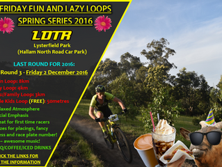 Friday Fun and Lazy Loop Race- 2nd DECEMBER