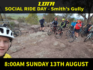 August Social Ride Day - Smith's Gully