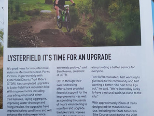 AMB Magazine Article on the Upgraded State Mountain Bike Course