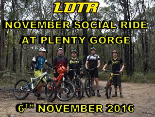 November Social Ride: Plenty Gorge