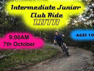Intermediate Junior Club Ride [Ages 10 +]