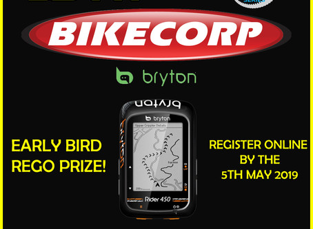 GOLDEN GOAT CHALLENGE Early Bird Prize! - Thanks to Bike Corp