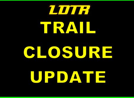 Trail Closures this Weekend