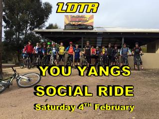 You Yangs Social Ride - February 4th
