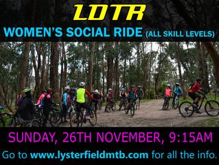 Women's Social Ride - November