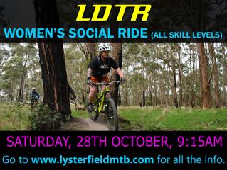 Women's Social Ride for October