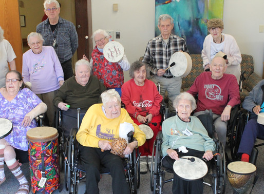 Therapeutic Drumming Connects our Campus