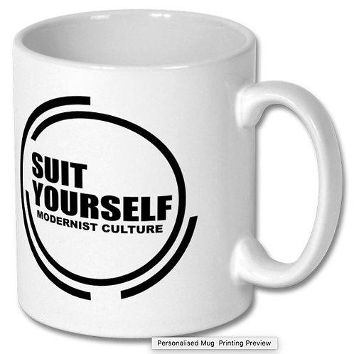 Suit Yourself White Mug