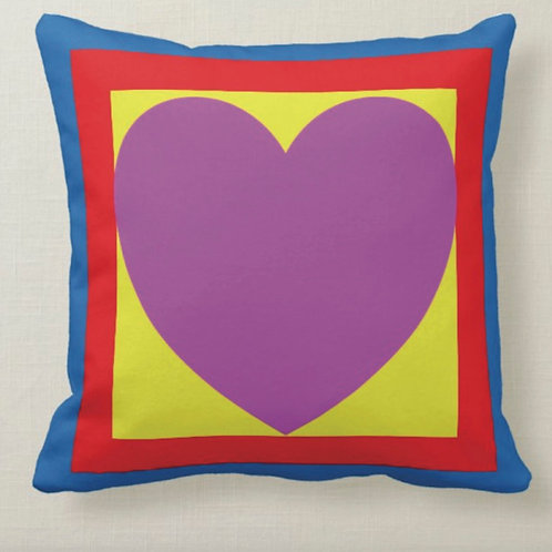 HEART Pop Art Cushion (Double Sided) - Inspired by Paul Weller & Peter Blake