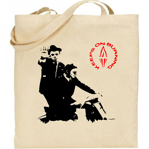 KEEPS ON BURNING - Natural Cotton Tote Bag inspired by The Style Council