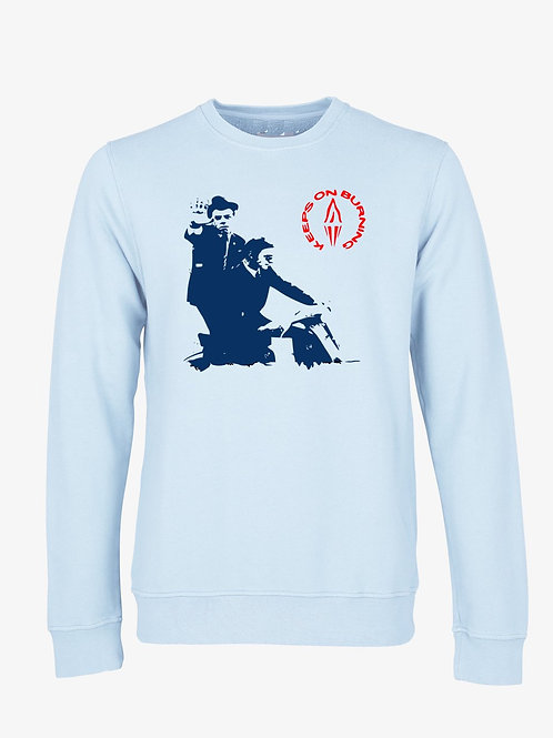 KEEPS ON BURNING  (Organic Sweatshirt) - Inspired by The Style Council