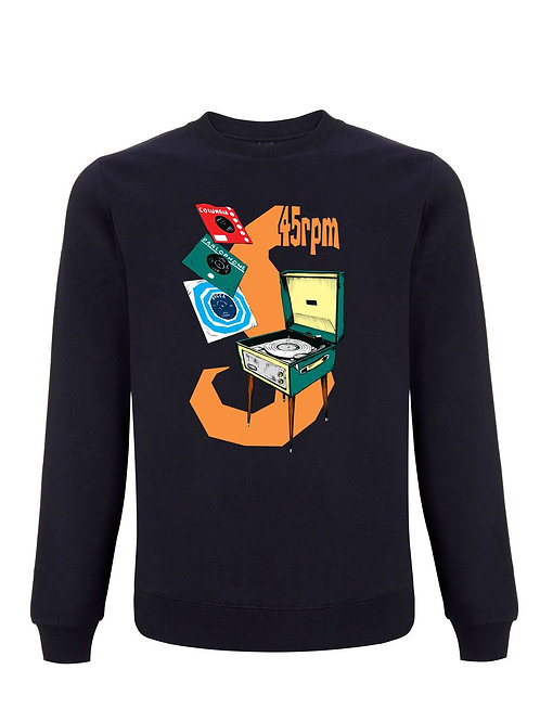 45 RPM - Inspired by Record Collecting. Organic Sweatshirt