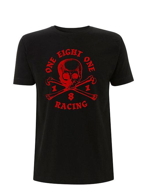 181 RACING - Skull & Crossbones on Black Organic T-Shirt