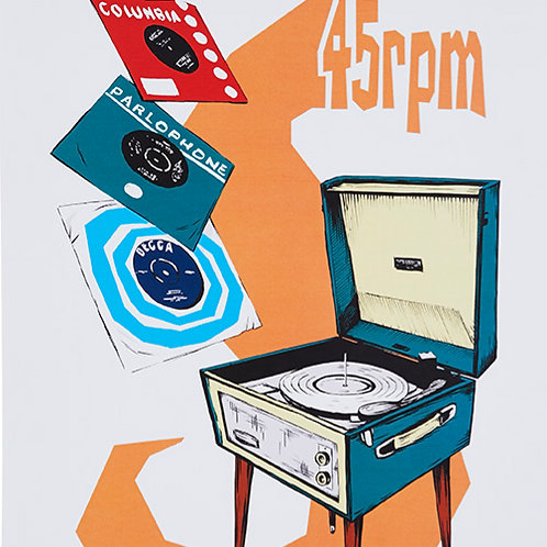 45 RPM - Fine Art by Lewis Wharton (of LITTLE BARRIE)