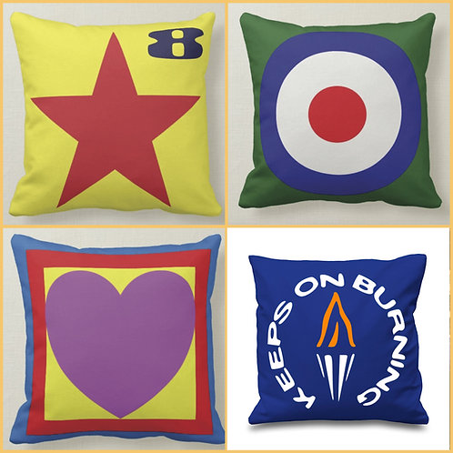SET OF 4  Cushion (Double Sided) - Inspired by Paul Weller