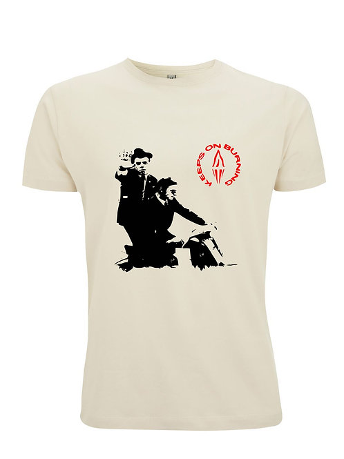 KEEPS ON BURNING - Inspired by The Style Council - Organic Fashion Cut Unisex T