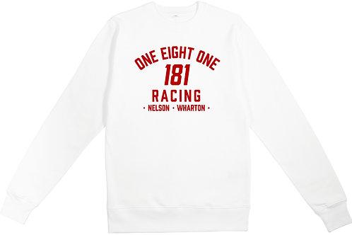 181 RACING - Logo on White Organic Sweatshirt
