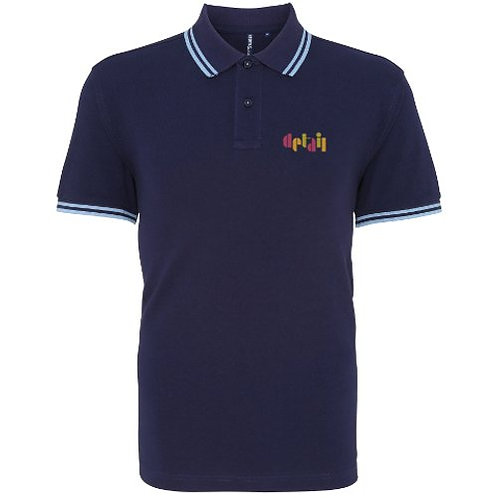 Detail - Men's Navy Polo - Top Quality