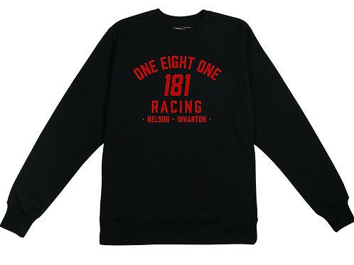 181 RACING - Logo on Black Organic Sweatshirt