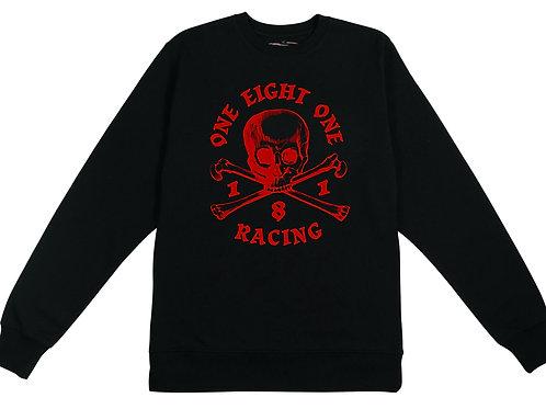 181 RACING - Skull & Crossbones on Black Organic Sweatshirt