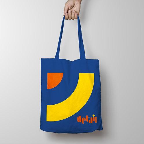 Detail - Target Roundel Blue / Yellow Tote Shopping Bag