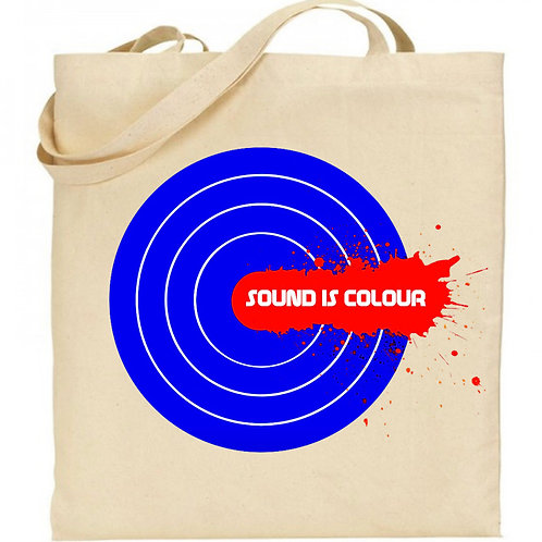 LOGO - Natural Cotton Tote Bag inspired by Sound is Colour