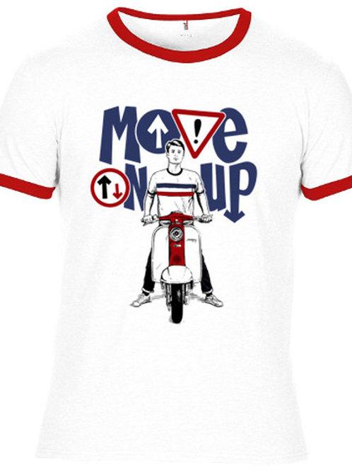 Move on UP Lambretta - screen-printed T-Shirt - White / Multi