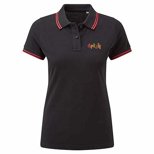 Detail - Female Black Polo - Top Quality