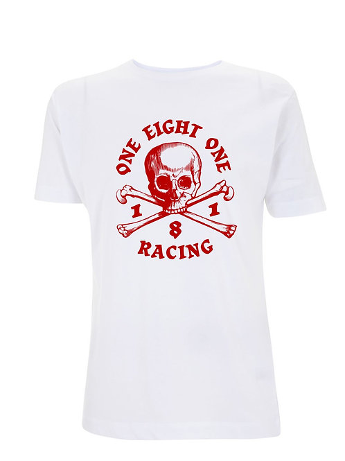 181 RACING - Skull & Crossbones on White Organic T-Shirt