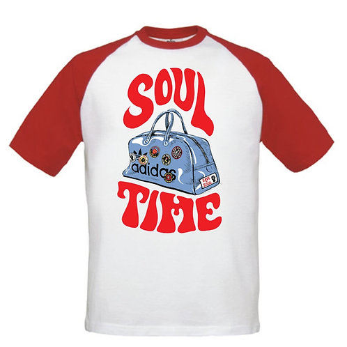 SOUL TIME - Inspired by Northern Soul (Retro Red or Navy)