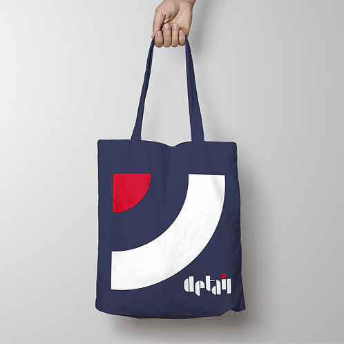 Detail - Target Roundel Navy Tote Shopping Bag