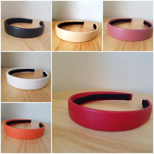 Plain Hairbands, Vinyl & Leather