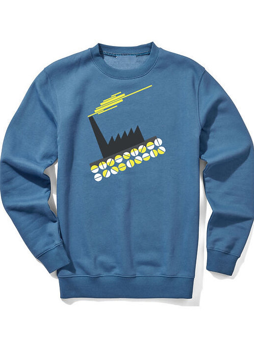 PILL FACTORY (Organic Sweatshirt)  - Inspired by New Order & Factory Records