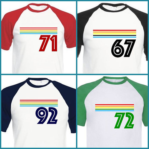 HERE IS MY NUMBER - Organic Retro, Choose your Number