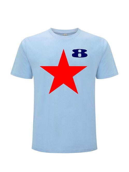 Star (Blue) - Inspired by Peter Blake & Paul Weller. Organic Unisex