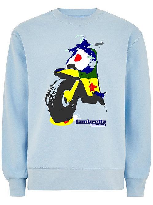 Pop Art Lambretta (Organic Sweatshirt) - Inspired by Peter Blake